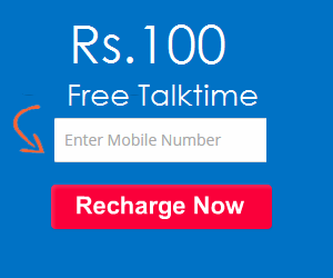 Rs.100 Free recharge
