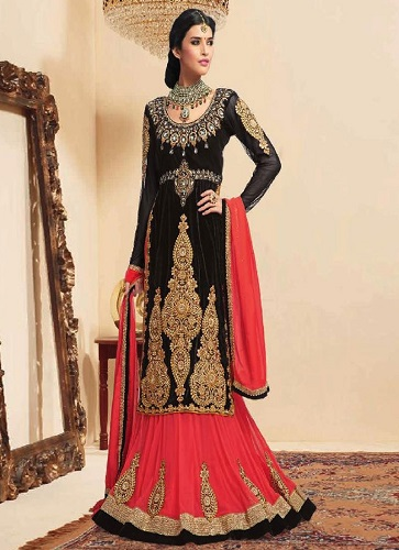 black-velvet-long-lehenga-choli