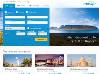 Discount coupons for musafir